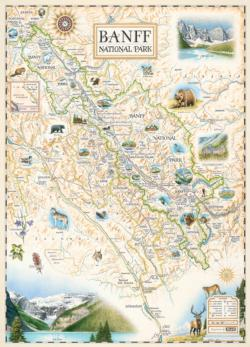 Banff National Park - Xplorer Maps Maps Jigsaw Puzzle