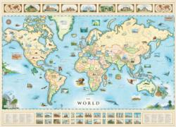 The World (Xplorer Maps) Maps Jigsaw Puzzle