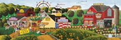 Apple Annie's Carnival Time Americana & Folk Art Panoramic Puzzle