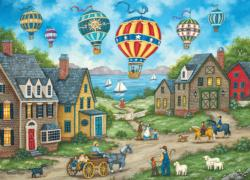 Passing Through Folk Art Jigsaw Puzzle