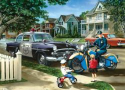 Neighborhood Patrol Nostalgic / Retro Jigsaw Puzzle