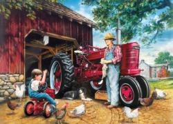 Barnyard Memories Chickens & Roosters Jigsaw Puzzle