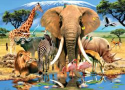 Safari Adventure Jungle Animals Jigsaw Puzzle