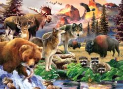 Wild America Collage Jigsaw Puzzle
