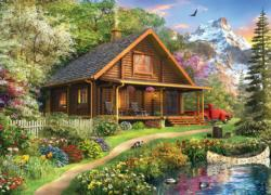 Mountain Retreat Cottage / Cabin Jigsaw Puzzle