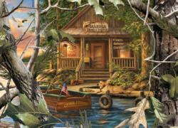 Gone Fishing Cottage / Cabin Jigsaw Puzzle