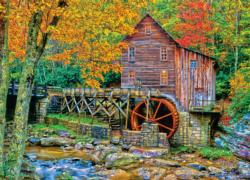 Glade Creek Grist Mill Lakes / Rivers / Streams Jigsaw Puzzle