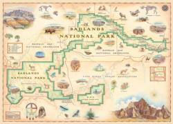 Badlands Map Geography Jigsaw Puzzle