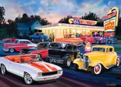 Dogs & Burgers Nostalgic / Retro Jigsaw Puzzle