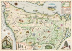 Olympic Map National Parks Jigsaw Puzzle