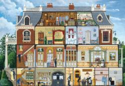 Upstairs, Downstairs Folk Art Jigsaw Puzzle
