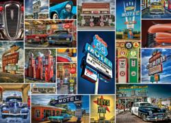 Route 66 - Scratch and Dent Collage Jigsaw Puzzle