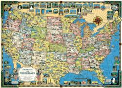 USA Map Geography Jigsaw Puzzle