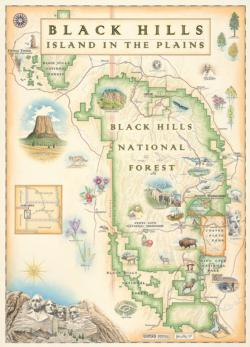 Black Hills Map (Xplorer Maps) Maps / Geography Jigsaw Puzzle