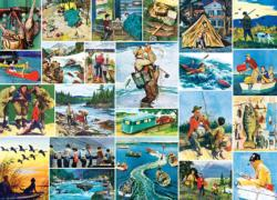 Outdoors Collage (Saturday Evening Post) Collage Jigsaw Puzzle