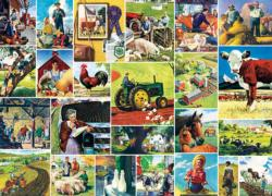 Farmland Collage  (Saturday Evening Post) Collage Jigsaw Puzzle