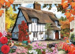 Autumn Cottage (Flower Cottages) Fall Jigsaw Puzzle