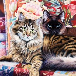 Raja and Mulan (CatOlogy) Cats Jigsaw Puzzle