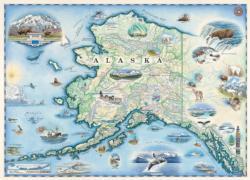 Xplorer Maps - Alaska 1000pc Puzzle Maps / Geography Jigsaw Puzzle