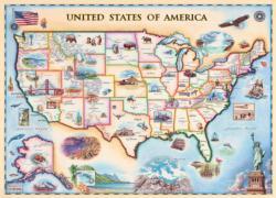 USA Map (Xplorer Maps) Maps / Geography Jigsaw Puzzle