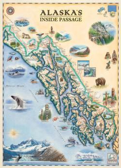 Xplorer Maps - Inside Passage 1000pc Puzzle Maps / Geography Jigsaw Puzzle