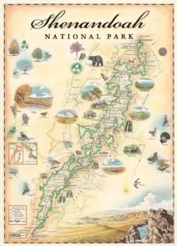 Xplorer Maps - Shenandoah 1000pc Puzzle Maps / Geography Jigsaw Puzzle