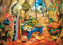 Trading Post Native American Jigsaw Puzzle