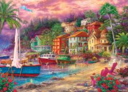 On Golden Shores Seascape / Coastal Living Jigsaw Puzzle