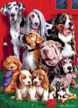 Sitting Pretty Dogs Jigsaw Puzzle
