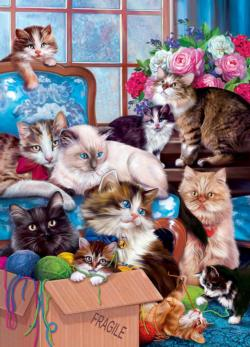 Trouble Makers Cats Jigsaw Puzzle