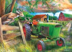 Deer Crossing Farm Jigsaw Puzzle
