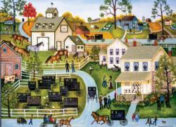 Sunday Meeting Americana & Folk Art Jigsaw Puzzle