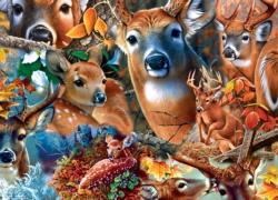 Forest Beauties Collage Impossible Puzzle