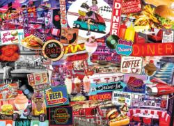 Quick Stop Diner Collage Jigsaw Puzzle