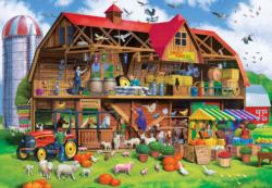 Family Barn Farm Animals Large Piece