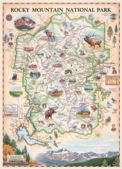 Rocky Mountain Maps / Geography Jigsaw Puzzle