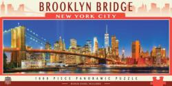 Brooklyn Bridge Bridges Panoramic Puzzle