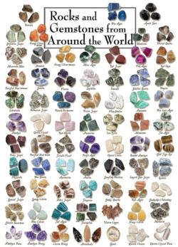 Gemstones - Scratch and Dent Collage Jigsaw Puzzle