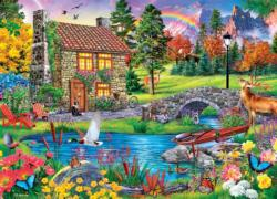 Stoney Brook Retreat Cottage / Cabin Jigsaw Puzzle