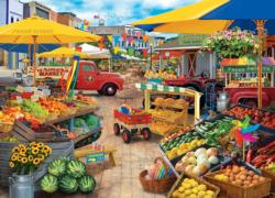 Market Square Shopping Jigsaw Puzzle