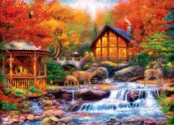 Colors of Life Cottage / Cabin Jigsaw Puzzle