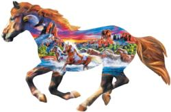 Running Horse Horses Jigsaw Puzzle