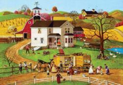 The Travelling Man Americana & Folk Art Large Piece