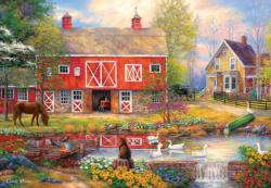 Reflections on Country Living Flowers Jigsaw Puzzle