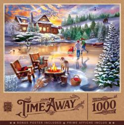 An Evening Skate Cottage / Cabin Jigsaw Puzzle