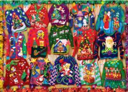 Holiday Sweaters Pattern / Assortment Jigsaw Puzzle
