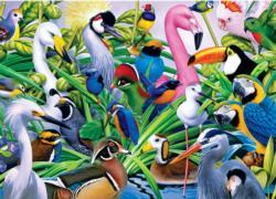 Colorful Companions Birds Jigsaw Puzzle