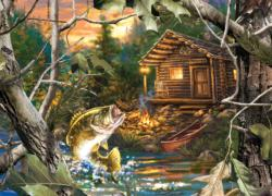 The One That Got Away Lakes / Rivers / Streams Jigsaw Puzzle