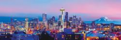 Seattle Skyline / Cityscape Panoramic Puzzle