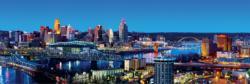 Cincinnati Skyline / Cityscape Panoramic Puzzle
